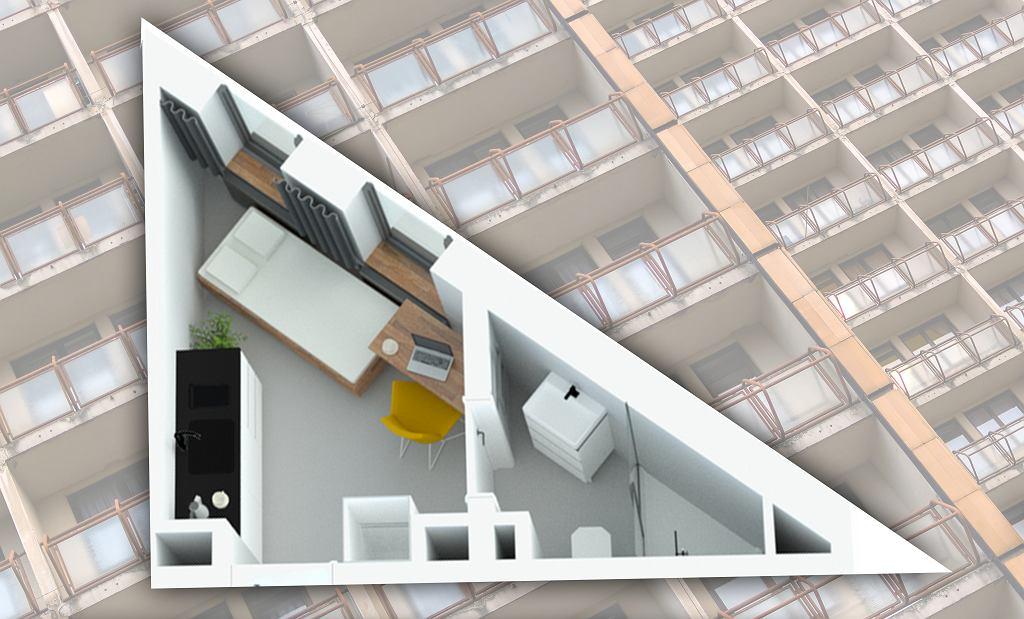 Mieszkanie w kształcie trójkąta