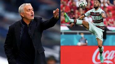 Jose Mourinho i Bruno Fernandes. Źródło: AP