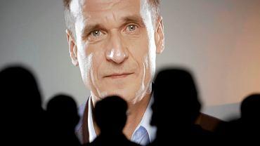 Paweł Kukiz na konwencji wyborczej Kukiz'15 w Częstochowie