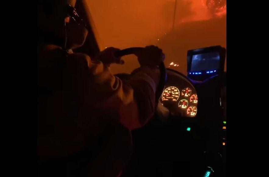 Pożary w Kalifornii - nagranie strażaków