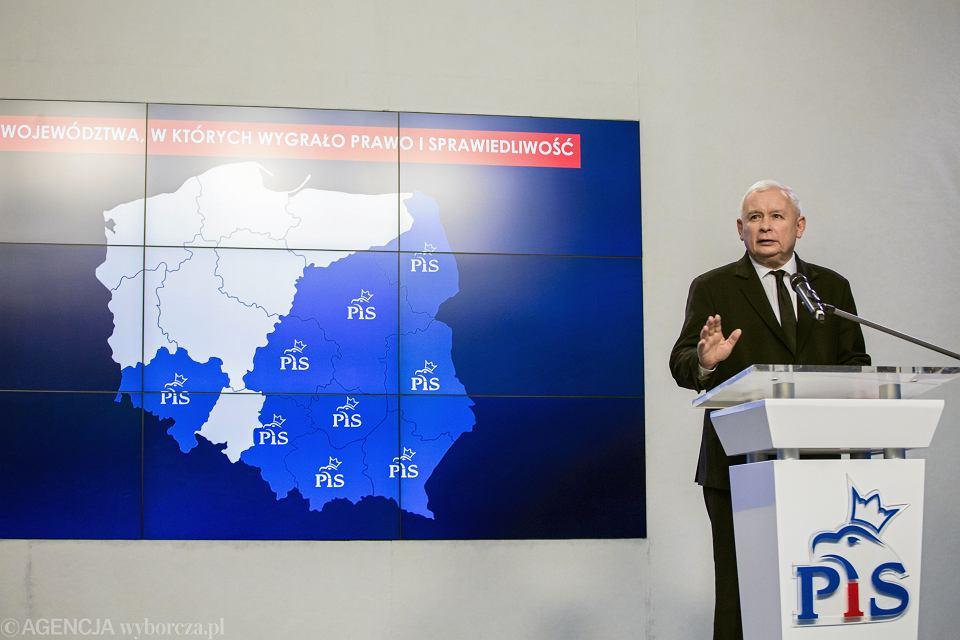 ;Jaroslaw Kaczynski podsumowuje wyniki wyborow samorzadowych