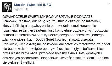 Komentarz Świetlickiego