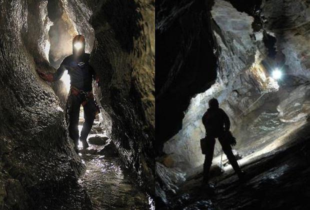 Grotołazi w Jaskini Wielkiej Śnieżnej (fot. Krzyszof Recielski / Państwowy Instytut Geologiczny - Państwowy Instytut Badawczy)