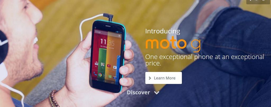 Moto G - młodszy brat Moto X wkrótce dostępny w sprzedaży m. in. w Wielkiej Brytanii