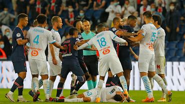Awantura podczas meczu PSG - Olympique Marsylia