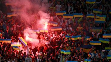 Trybuny podczas meczu Ukraina - San Marino