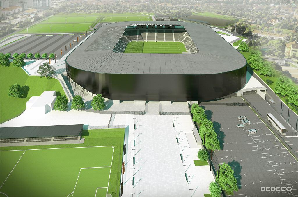 Wizualizacja nowego stadionu w Szczecinie