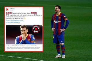"""Hiszpańskie media odpaliły bombę. Podpis Messiego """"prawie niemożliwy"""""""