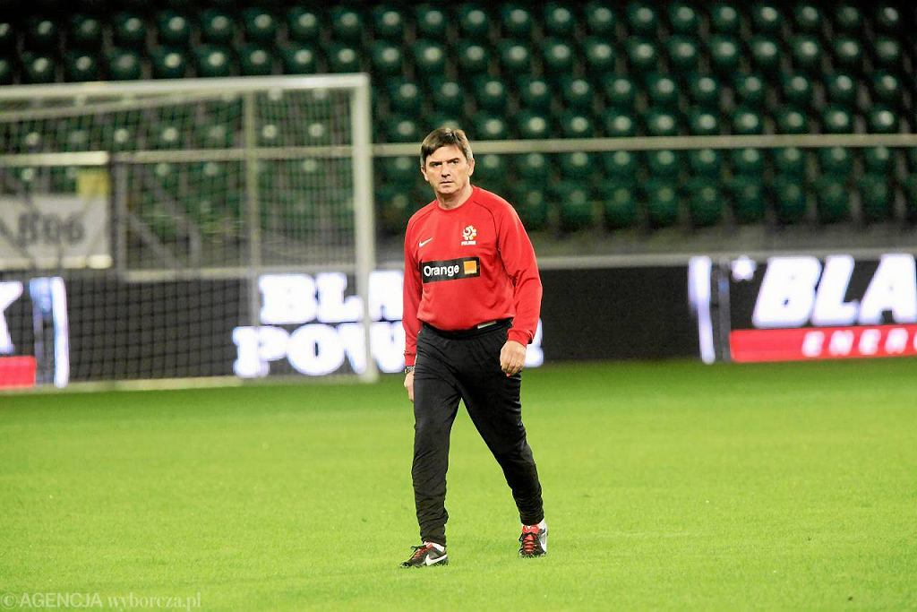 Waldemar Fornalik na Stadionie we Wrocławiu