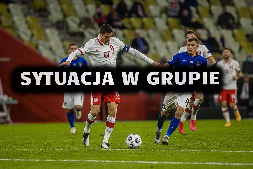 Robert Lewandowski w meczu Polska - Włochy