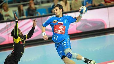 Marcin Lijewski w meczu Ligi Mistrzów Orlen Wisły z Dunkierką 32:25