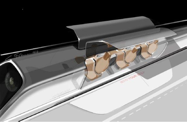 Część pasażerska kapsuły Hyperloop