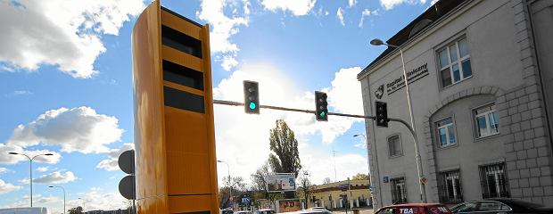 26.10.2012  WARSZAWA , NOWY FOTORADAR STRAZY MIEJSKIEJ NA WYBRZEZU KOSCIUSZKOWSKIM PRZY SKRZYZOWANIU Z KAROWA .  FOT. DARIUSZ BOROWICZ / AGENCJA GAZETA