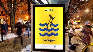 Plakat konkursowy 'Myślę o Wiśle' - autor Nikodem Pręgowski