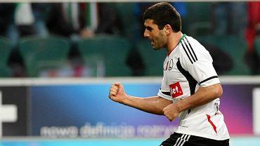 Władimir Dwaliszwili podczas meczu Legia - Pogoń (3:1)