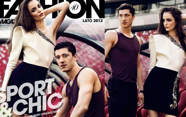 Zuzanna Bijoch i Robert Lewandowski w Fashion Magazine