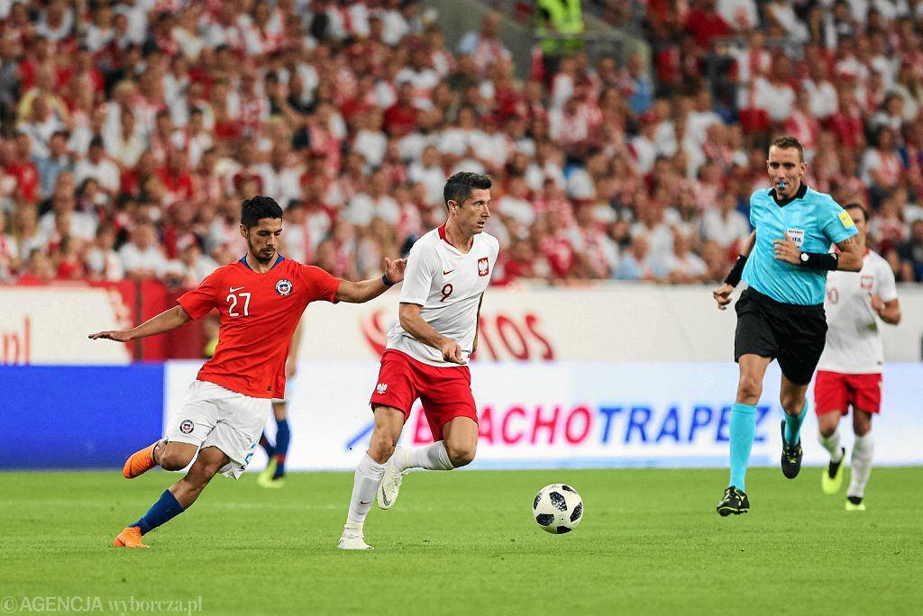 Mecz Polska - Chile 2:2 w Poznaniu przed mistrzostwami świata 2018