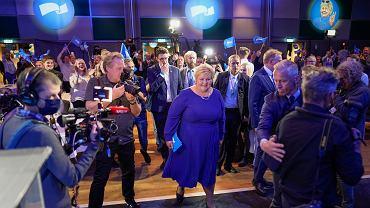 Wybory w Norwegii, na zdjęciu: premierka Erna Solberg