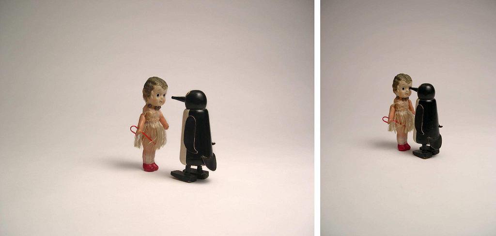Liliana Porter, 'Sytuacja z pingwinem (dyptyk)', 2004 / ZACHĘTA NARODOWA GALERIA SZTUKI