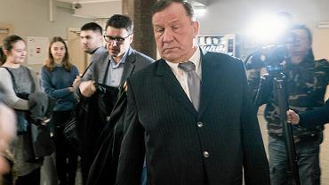 8 lutego 2019 r. Były oficer UOP Jerzy U. w poznańskim sądzie przed rozprawą dawnych ochroniarzy Mariusza Świtalskiego