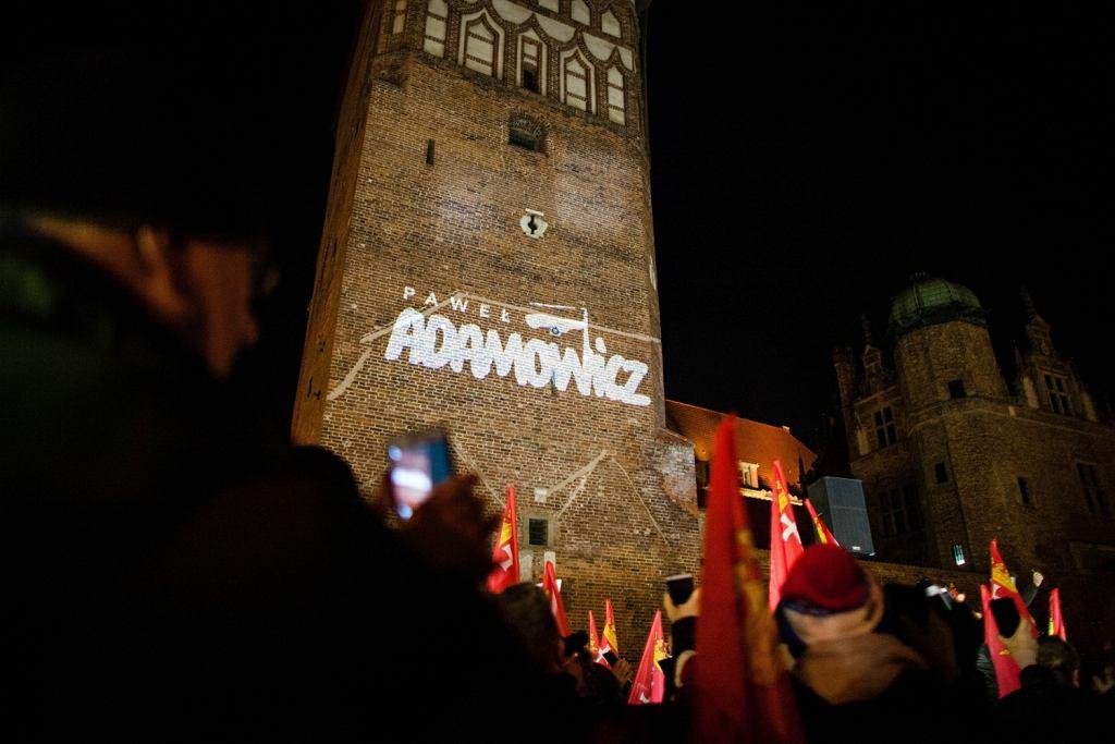 Gdańsk, 'Światelko do nieba' dla prezydenta Pawła Adamowicza , 13.02.2019