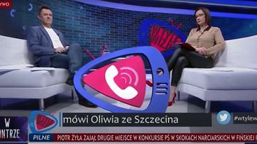 Fragment programu 'W tyle wizji' w TVP Info.