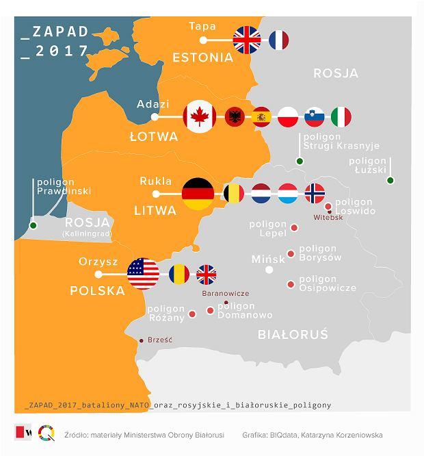 Zapada 2017. Bataliony NATO oraz rosyjskie i białoruskie poligony