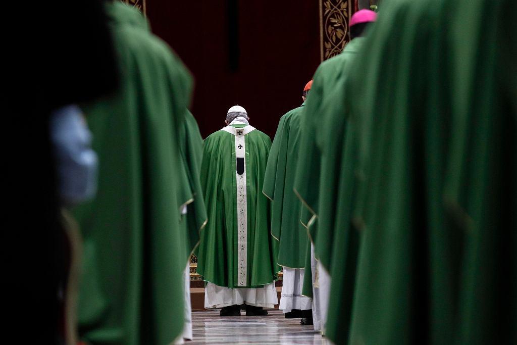 24.02.2019, Watykan, papież Franciszek celebruje mszę kończącą szczyt na temat przestępstw seksualnych w Kościele Katolickim.