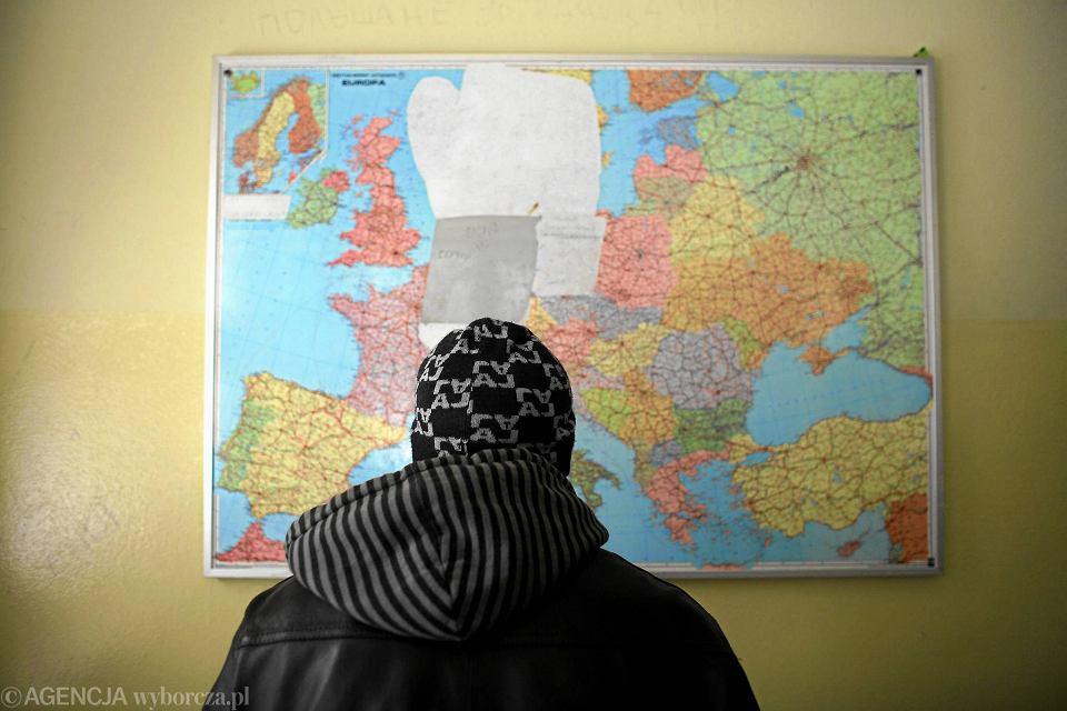 Uchodźca z Czeczenii w ośrodku przejściowym