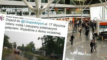 Utrudnienia w drodze na Lotnisko Chopina