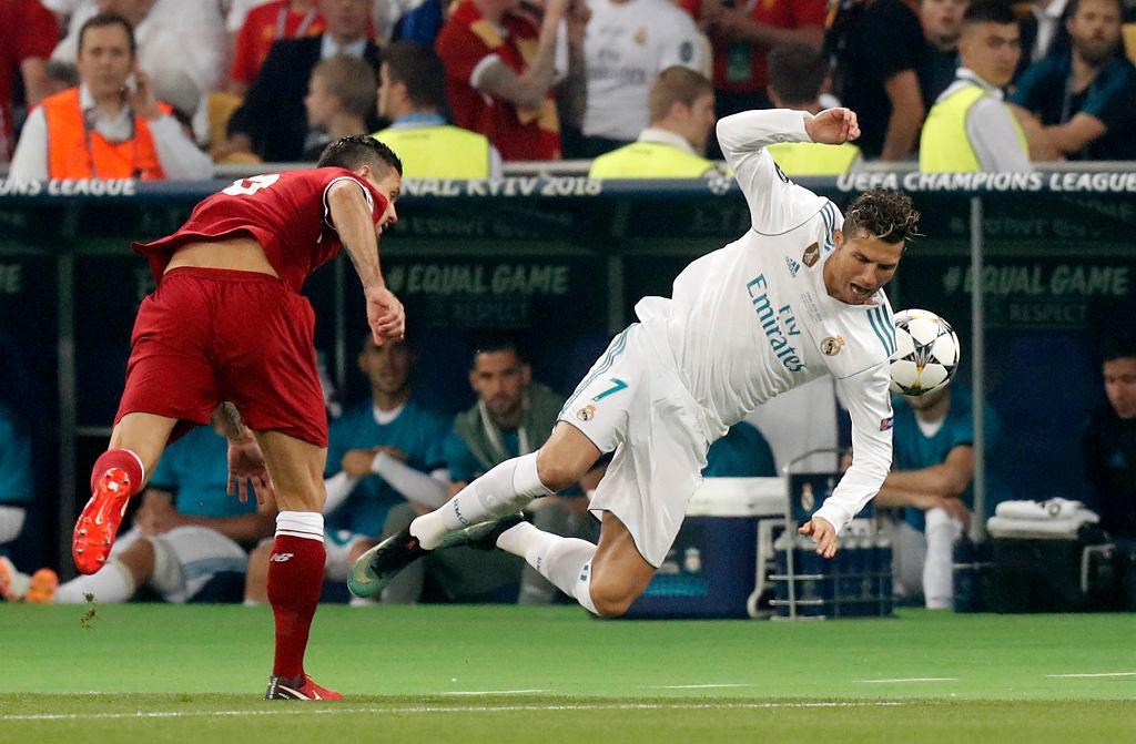 Cristiano Ronaldo podczas finału Ligi Mistrzów.