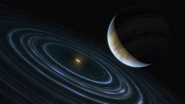 Egzoplaneta HD 106906b - wizja artysty