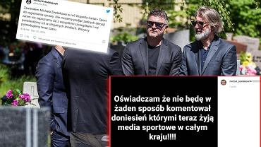 Michał Żewłakow i Kamil Kosowski na pogrzebie Piotra Rockiego
