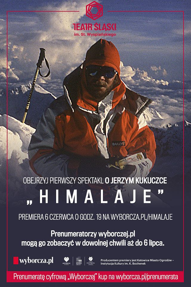 Plakat spektaklu 'Himalaje'