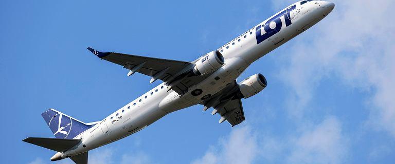 Nieplanowane lądowanie samolotu LOT. Agresywna pasażerka i usterka zaworu