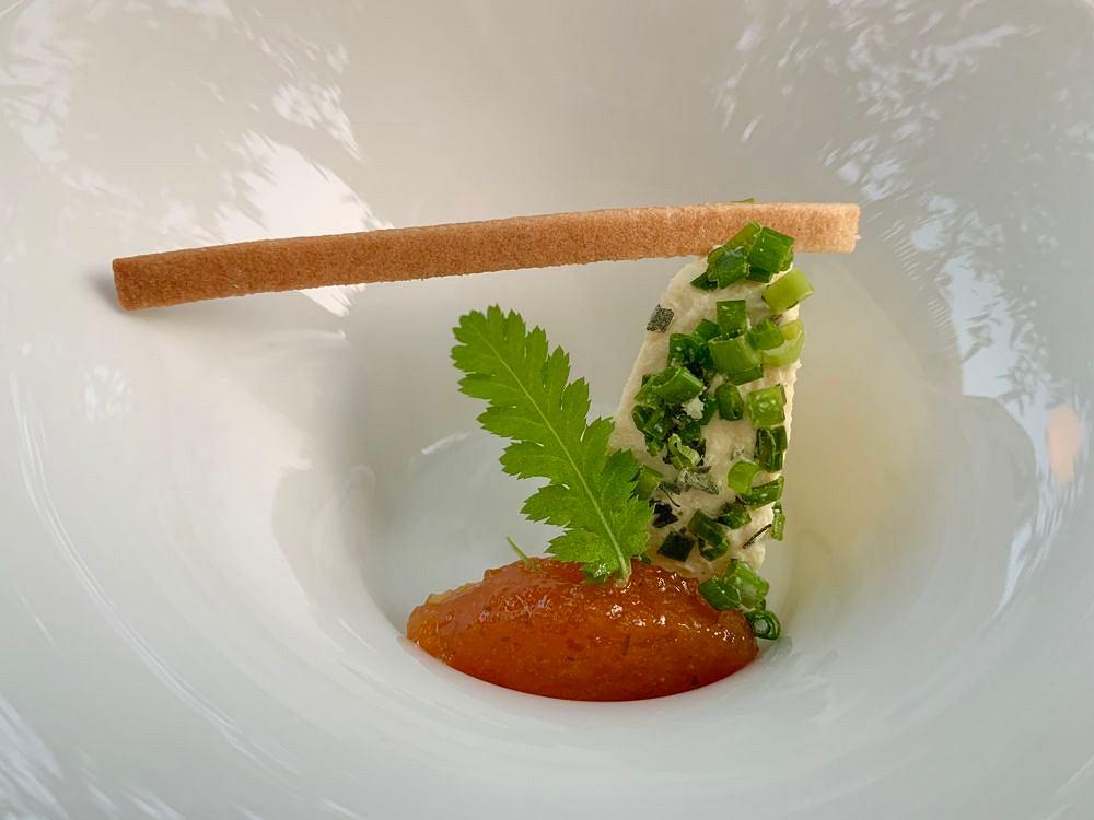 Danie z wegańskiej restauracji Ona nagrodzonej gwiazdką Michelin