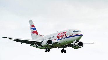Samolot czeskich linii lotniczych CSA