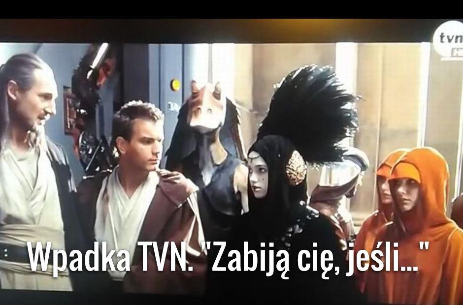 Wpadka TVN podczas emisji