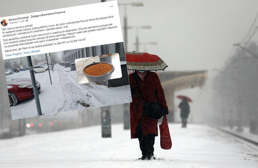 Lwów, następnie Kraków, teraz Warszawa. Fusy kawowe na chodnikach w coraz większej liczbie miast