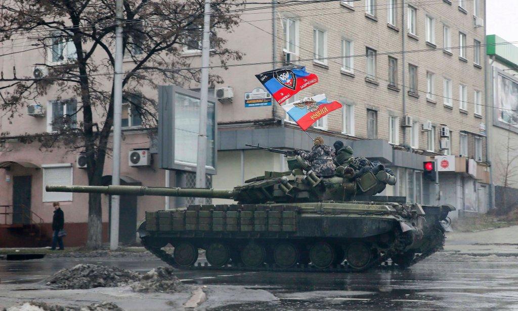 Separatyści na ulicach Doniecka