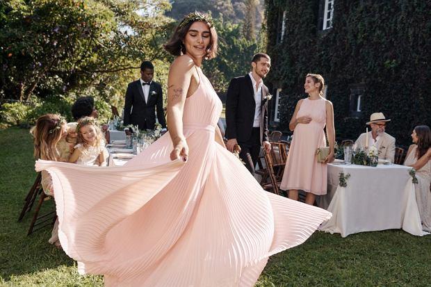 Plisowana suknia H&M