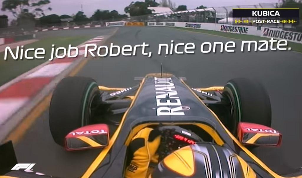 Robert Kubica podczas GP Australii 2010