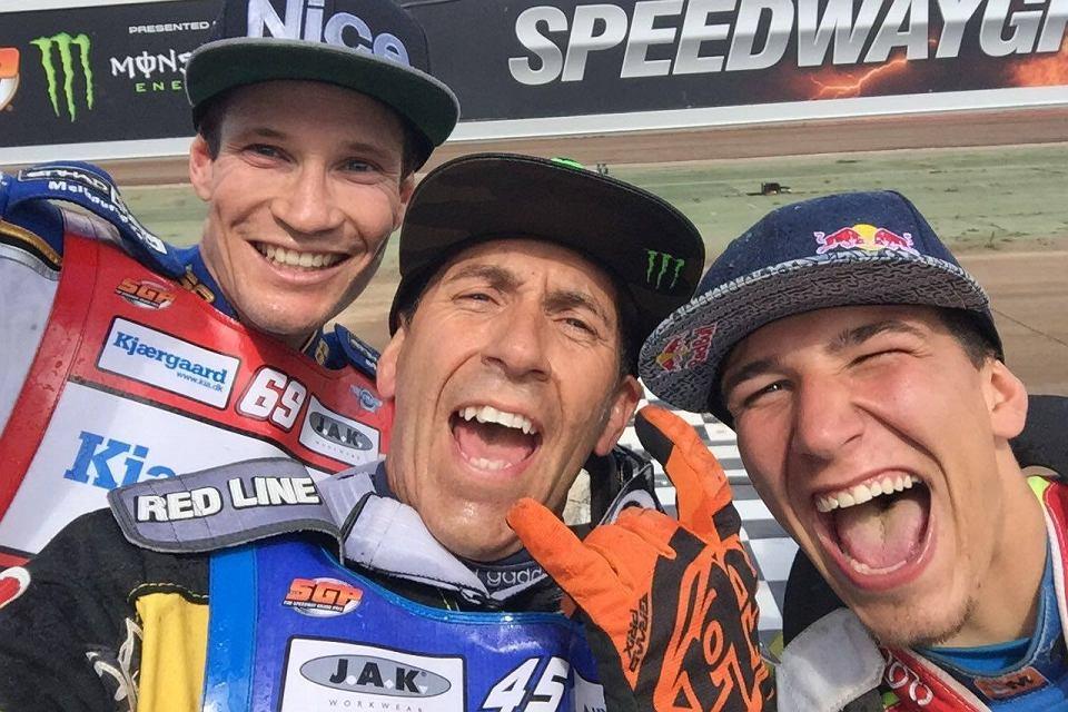 Najlepsi w Malilli. Od lewej: Jason Doyle, Greg Hancock oraz Piotr Pawlicki