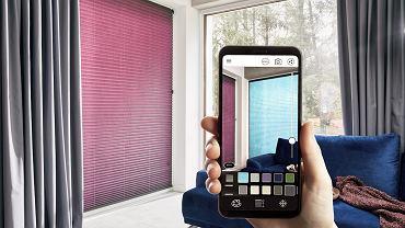 Aplikacja Anwis Home pomaga w dopasowaniu osłon okiennych do aranżacji wnętrza.