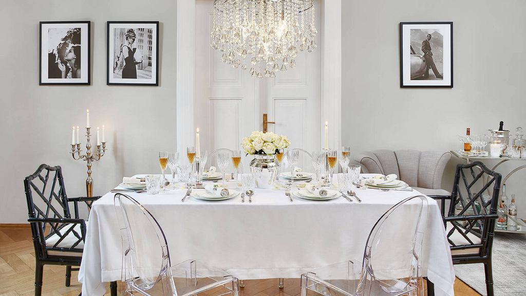 Kkrzesła do jadalni w stylu glamour