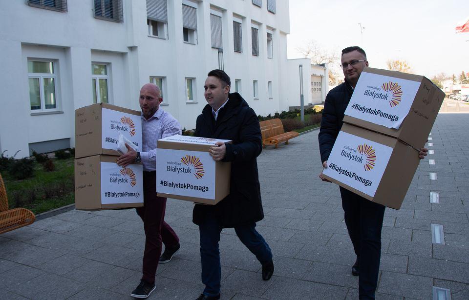 Urząd Miejski w Białymstoku kupił 20 tys. maseczek dla szpitali, pogotowia i policjantów