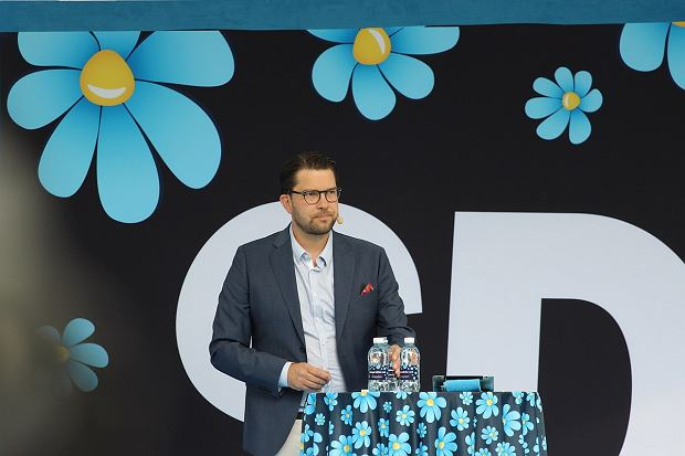 Jimmie Akesson, przewodniczący Szwedzkich Demokratów