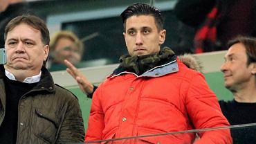 Michaił Aleksandrow na trybunie podczas meczu Legia - Ruch