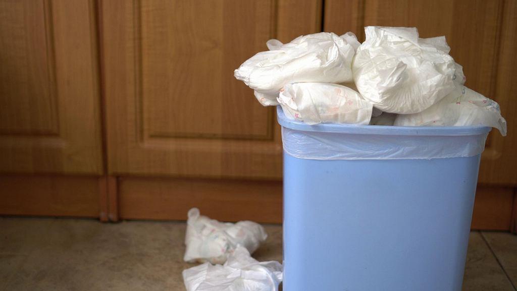Pieluchy stanowią duży procent odpadów komunalnych