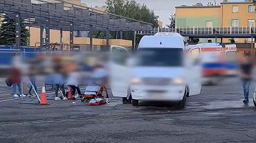 Atak nożownika na kierowcę autobusu w Krośnie.